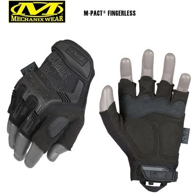 Перчатки Mechanix Wear Fingerless M-pact, Black, XL